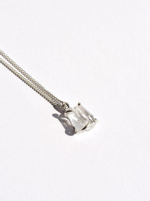 collar cuarzo cristal raw
